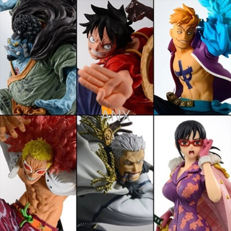15CM One Piece Luffy Marco Jinbe Smoker Tashigi Doflamingo Figure PVC Action Anime Collection One Piece Doll Figure Toys Gifts 15cm anime one piece figure combat version marshall d teach figure toys collection pvc action figure one piece toys model gifts