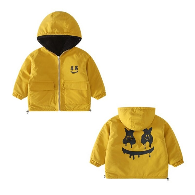 Children's clothing boys' autumn and winter clothes thickened double-sided wear furry sweater children's fleece padded coat enlarge