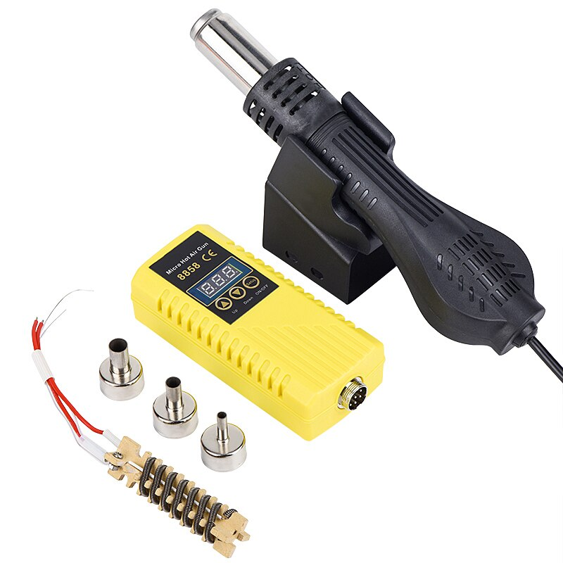 JCD Micro Rework hot air gun 220V 110V 750W Digital Display Soldering station heat gun welding Desoldering tools 8858 Hair dryer