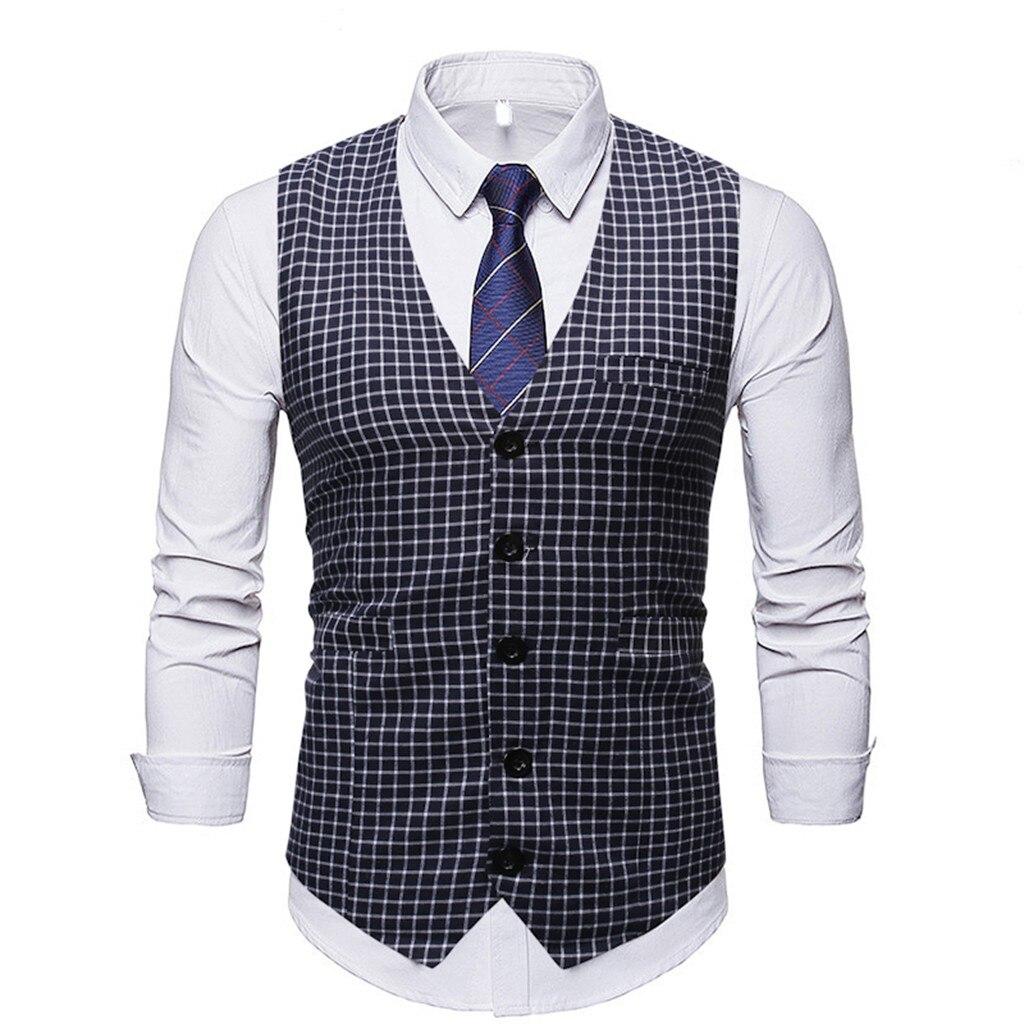 Брендовая мужская жилетка женский жилет весенний приталенный деловой костюм жилет мужской досуг винтажная мужская одежда высокого качества