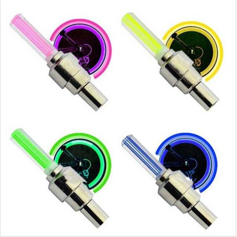Luz LED de neón para bicicleta, inyector para rueda, válvula de núcleo,...
