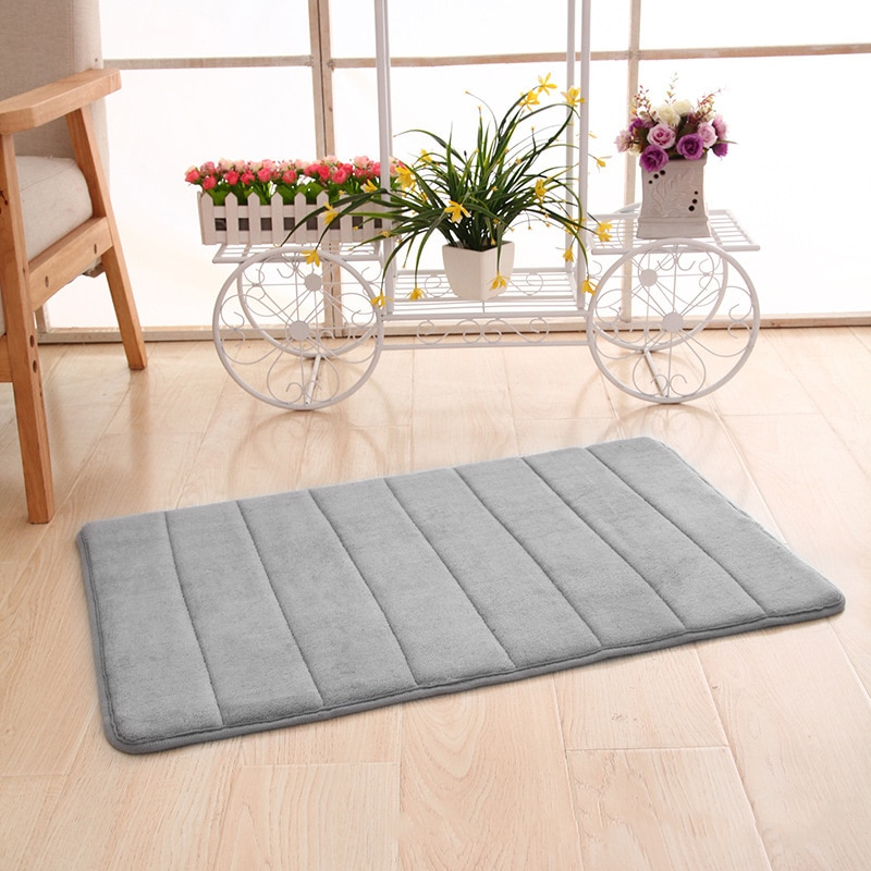 Alfombra de baño polar Coral, alfombra de baño de espuma viscoelástica superabsorbente antideslizante para el hogar, alfombras de baño, alfombras de espuma para ducha, alfombra suave para suelo