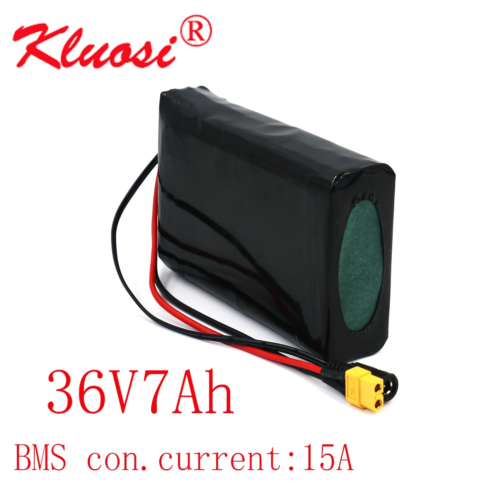 KLUOSI-بطارية ليثيوم أيون 36 فولت 10S2P 7Ah 450W 18650 ، مع BMS 15a ، للسكوتر ، الدراجة الكهربائية ، لوح التزلج