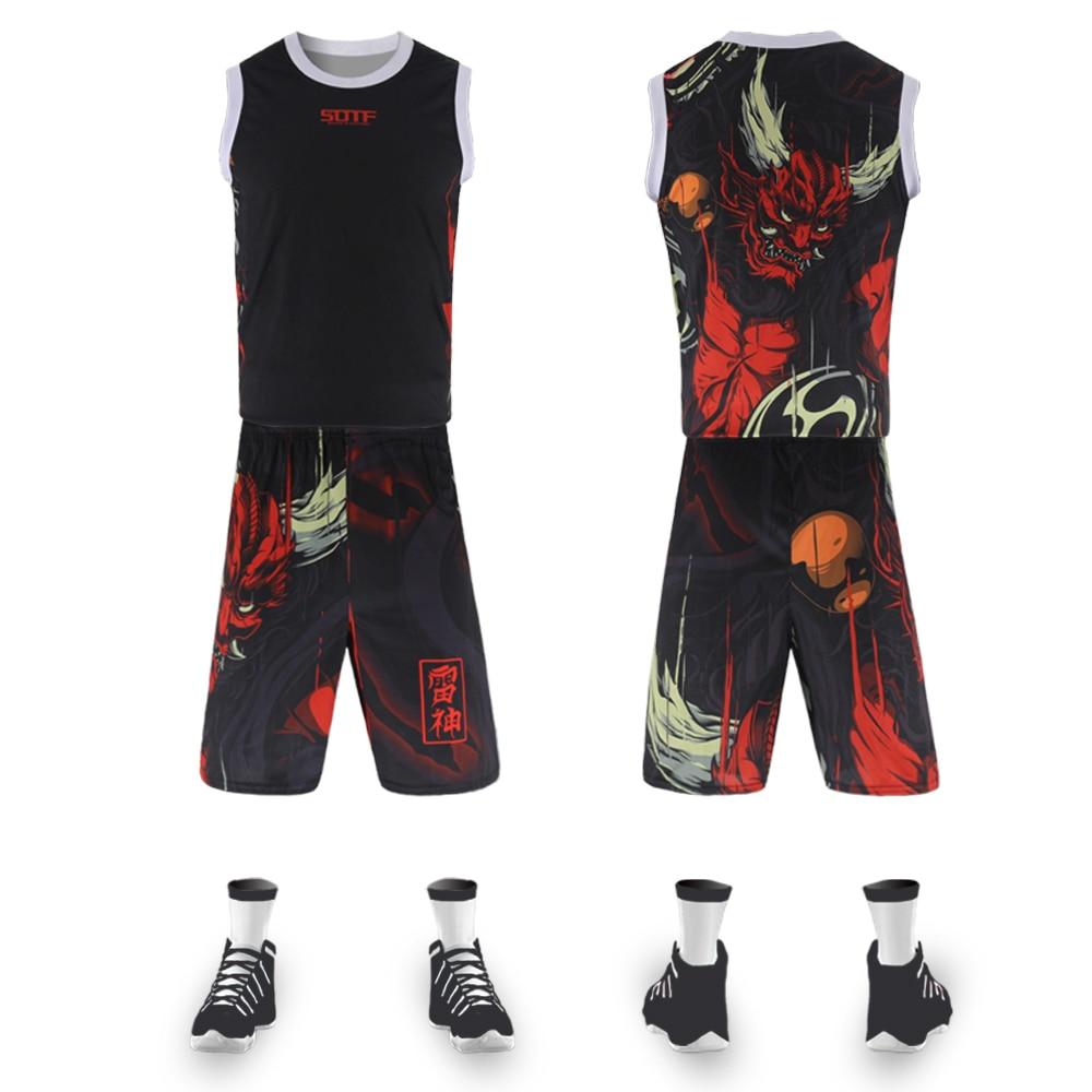 Thor red chinese style training street ball retro basketball jerseys team sports toronto raptors jersey t shirt basketball men