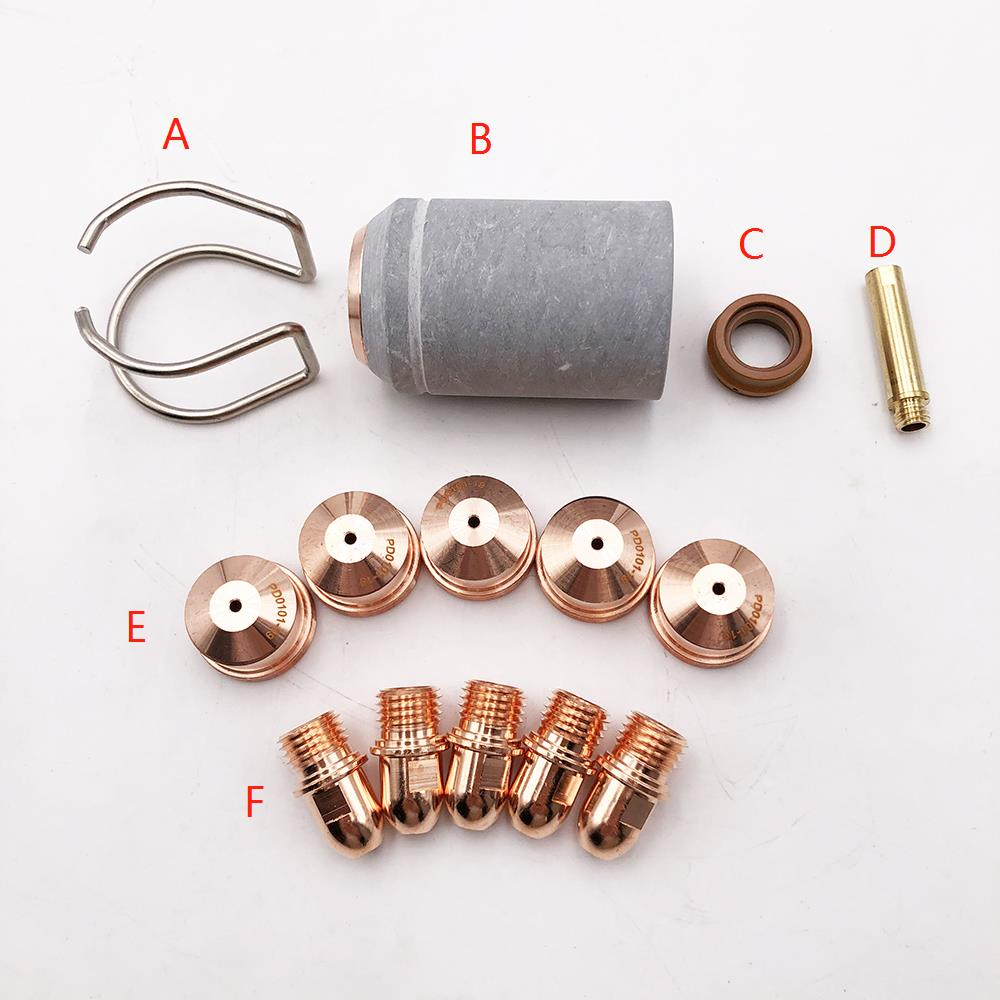 14pcs a lot nozzles electrodes spacer retaining cap diffuser swirl ring fit A101 A141 P101 P141 Air-cooled plasma cutting torch