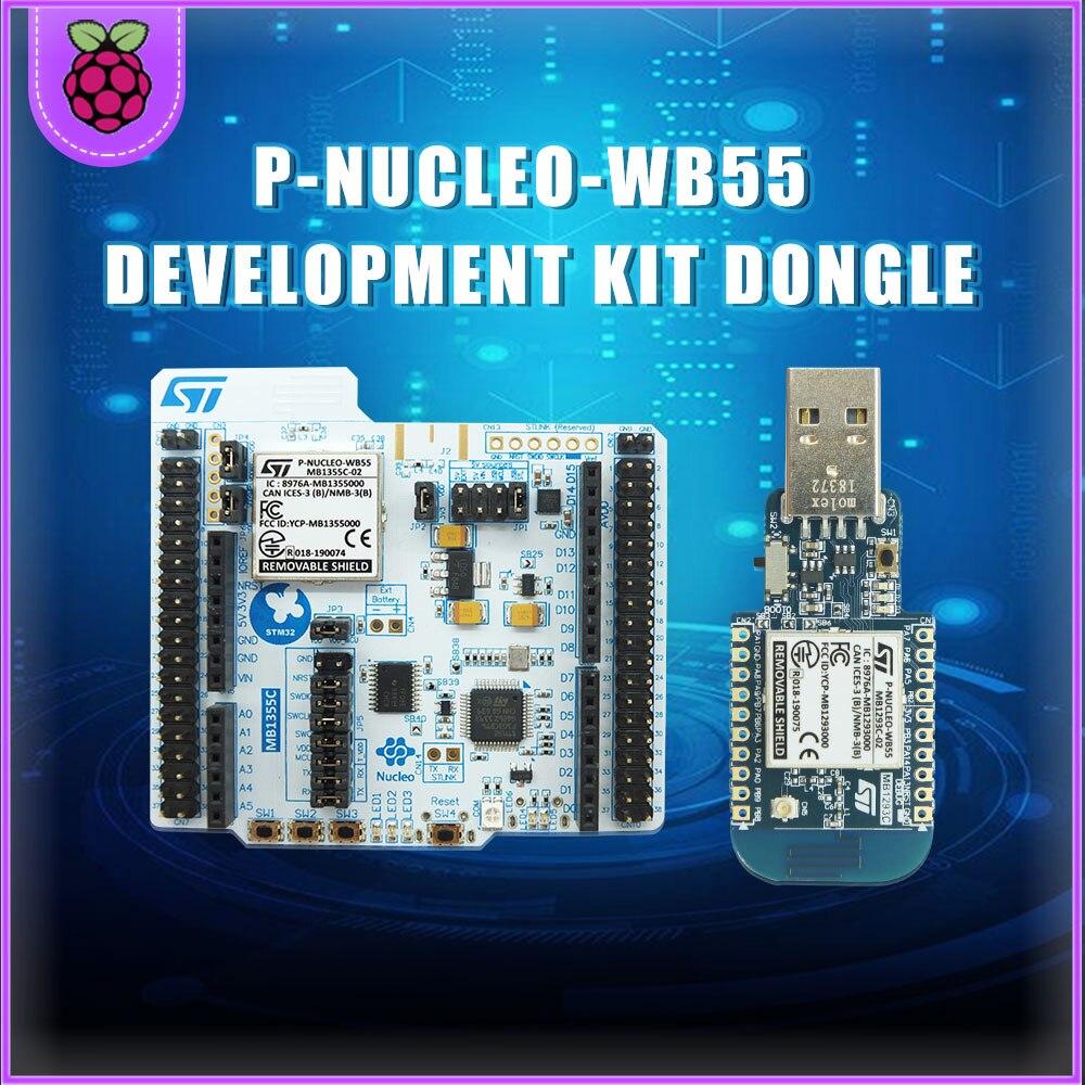 1/Uds lote P-NUCLEO-WB55 Kits de desarrollo ARM BLE Nucleo paquete que incluye dongle USB y Nucleo-68 con STM32WB55 MCUs dropship