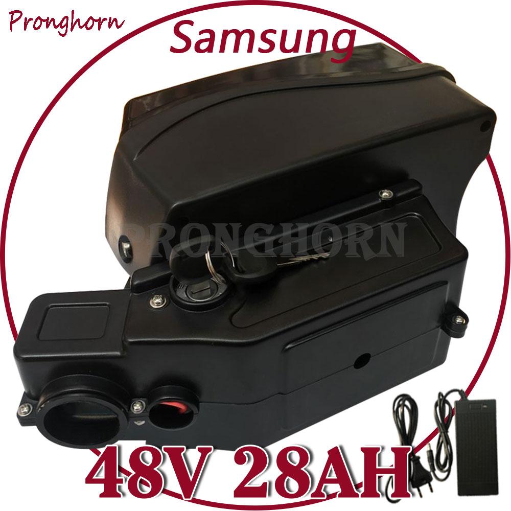 Batería 48V 500W 1000W 48V 15Ah 17Ah 18Ah 20Ah 25Ah 28Ah Ebike batería de iones de litio paquete de uso Samsung celular con 30A BMS + 5A cargador