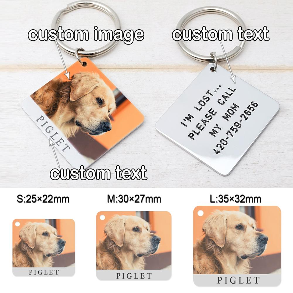 Купить с кэшбэком Personalized Dog Tag,Photo Name Dog Tag,Custom Photo Dog Tag,Dog ID Tag,Cat Dog Collar Tag,Pet Id Tag