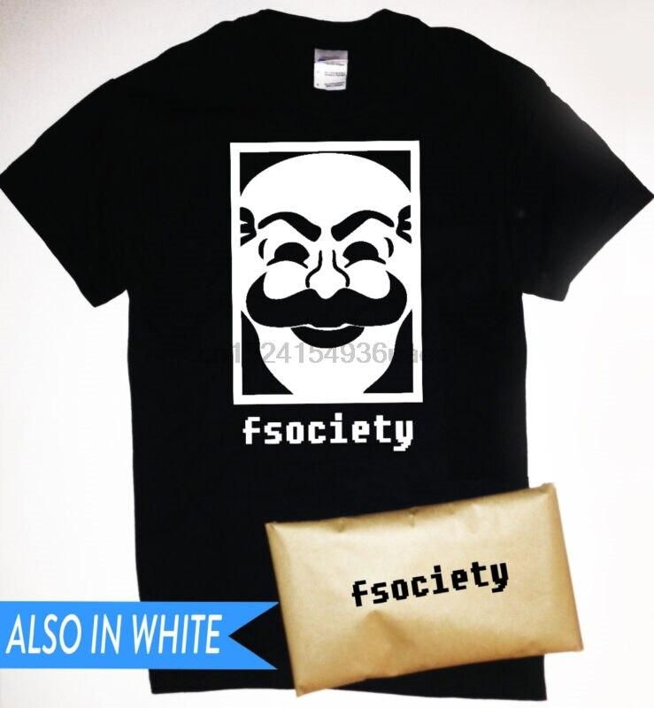 Fsociety camiseta con Logo fsociety de Mr Robot hacker anónimo