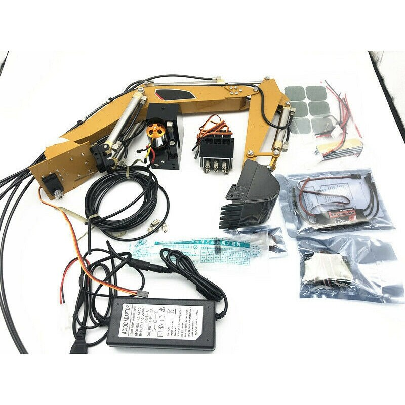 Hot HUINA 580 Modified Parts With Hydraulic Oil Pump Upgrade RC Hydraulic Excavator DIY part Kit sys