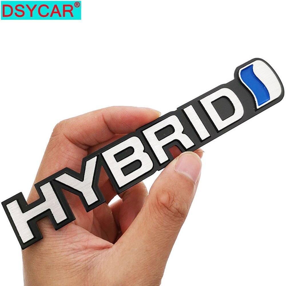 DSYCAR  1Pcs 3D Metal HYBRID Emblem Sticker Car SUV Body Exterior Cover Decals DIY Car-Styling 3D Stickers New