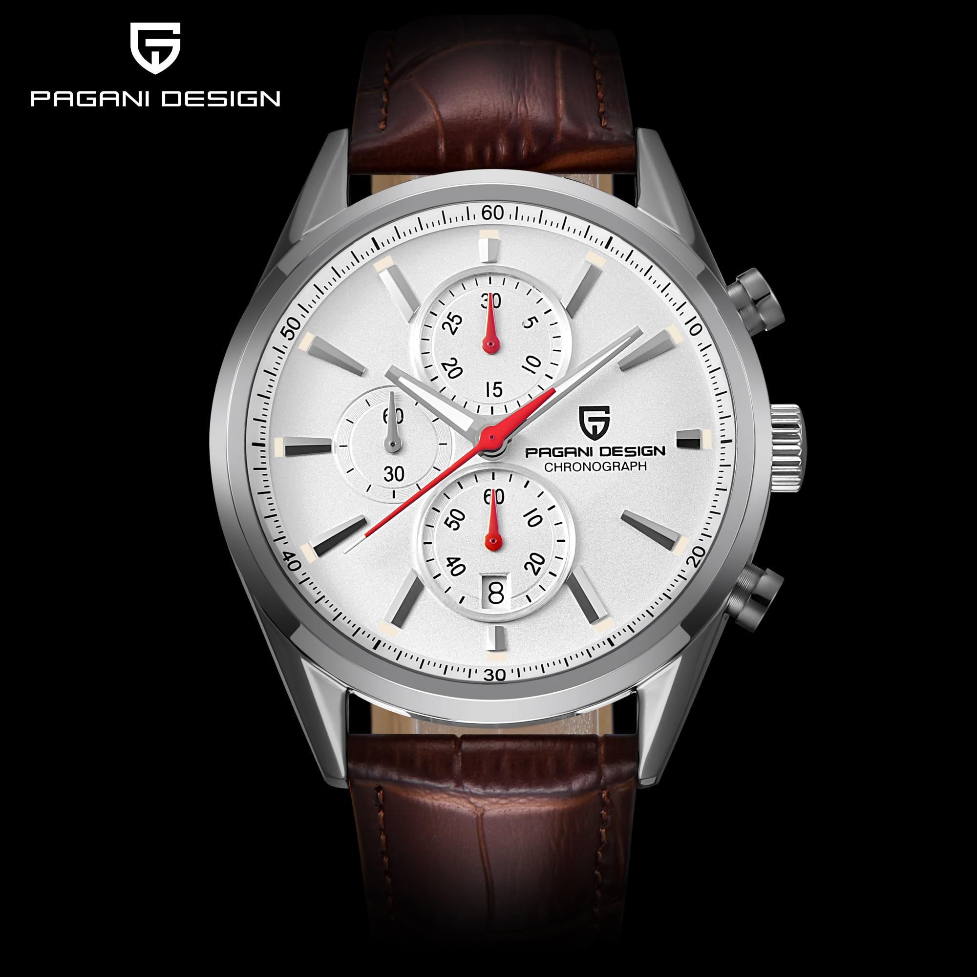 PAGANI עיצוב Mens שעונים למעלה מותג יוקרה נירוסטה ספורט שעון קוורץ זכר שעוני יד גברים שעון relogio masculino