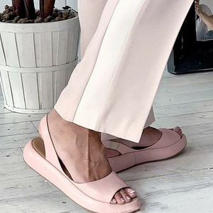 Women Sandals 2020 Flip Flops Candy Color Summer Rome Slip-On Breathable Non-slip Shoes Sandal Woman Slides Solid Female
