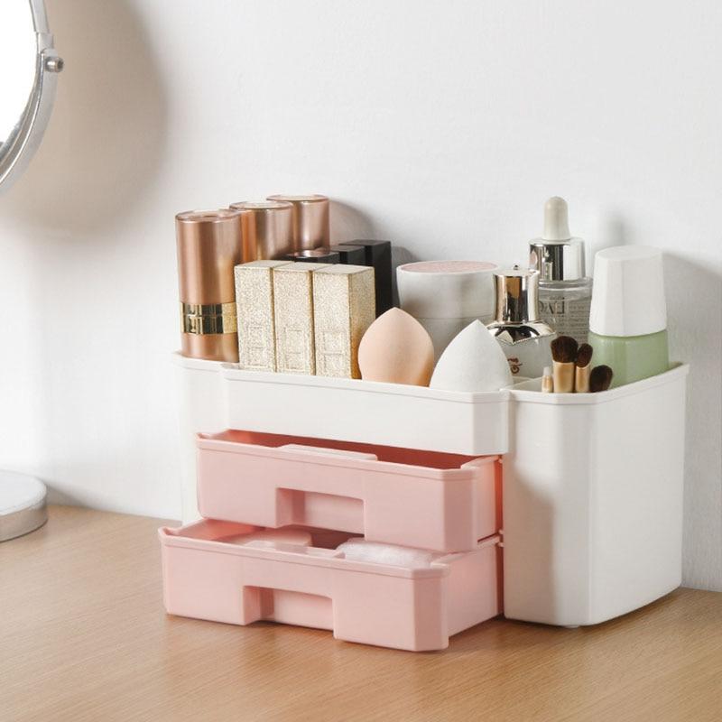 YiCleaner органайзер для макияжа пластиковая коробка для косметики большой держатель для макияжа Органайзер для лака для ногтей тампоны-держатель ящик для хранения для ванной комнаты