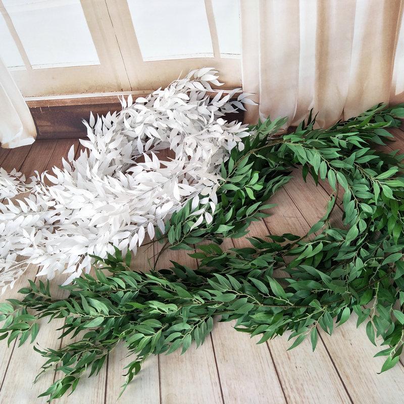 190CM 5  10  15pcs decoration wedding party artificial fake hanging vine plant leaf wreath home garden wall decoration