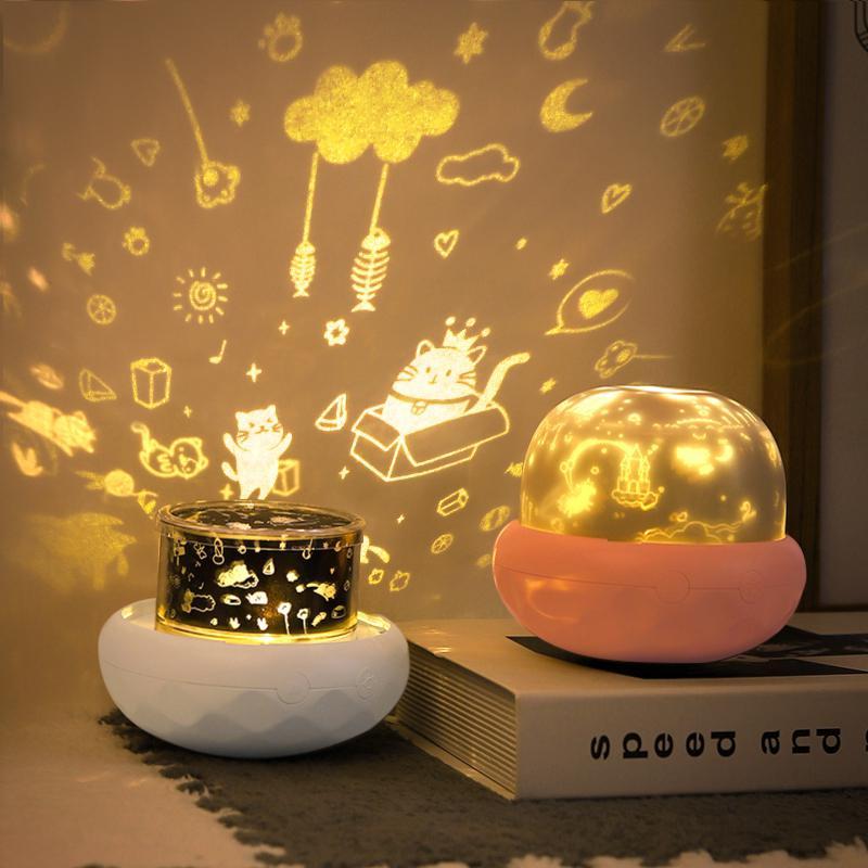 الفطر مصباح إسقاط Led 3 ألوان ضوء الليل للأطفال غرفة نوم الديكور