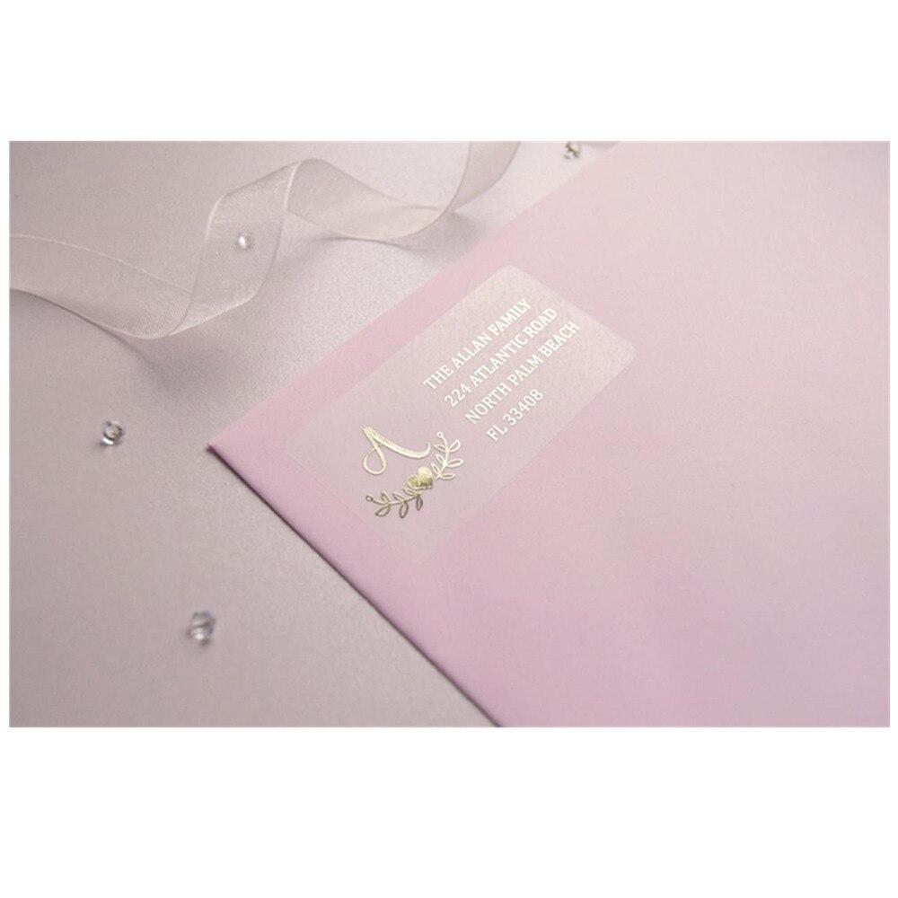 Etiquetas de endereço do destinatário da folha feita sob encomenda do envelope do casamento da caligrafia