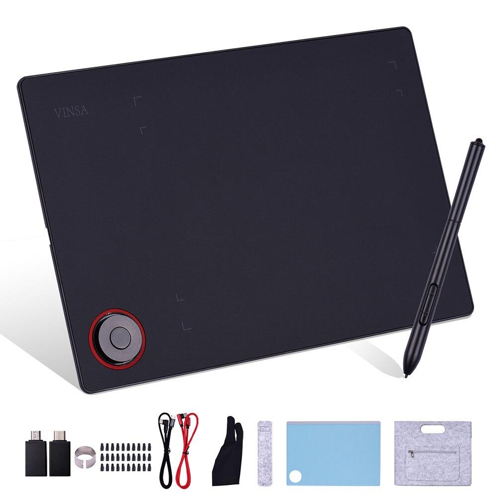 الرسومات لوح رسم لوح كتابة تحكم مقبض 8192 مستويات اللوحة مع بطارية مجانية ستايلس Nibs القلم كليب وتغ محول