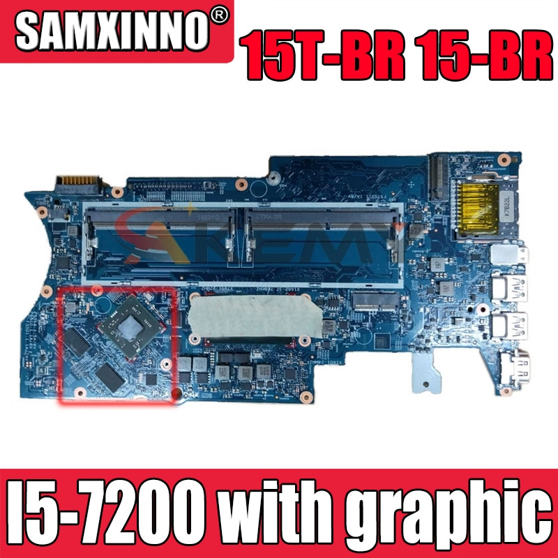 100% العمل 100% HP جناح 15T-BR 15-BR اللوحة مع SR342 I5-7200 CPU 924081-601 924081-001 924081-501 مع الجرافيك