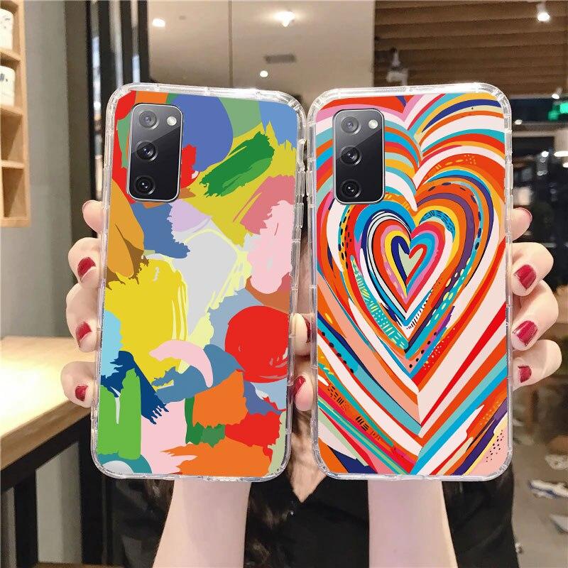 Graffiti Clear TPU Case for Samsung A51 Phone Cover For Samsung Galaxy A52 A32 A50 A71 A12 5G A42 A1