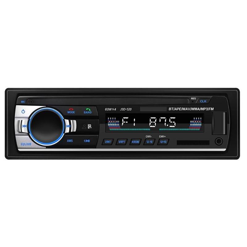 ALLOYSEED 1 Din In Dash Car  Autoradio JSD-520C-B Stereo Radio FM AUX Input Receiver USB 12V Car MP3
