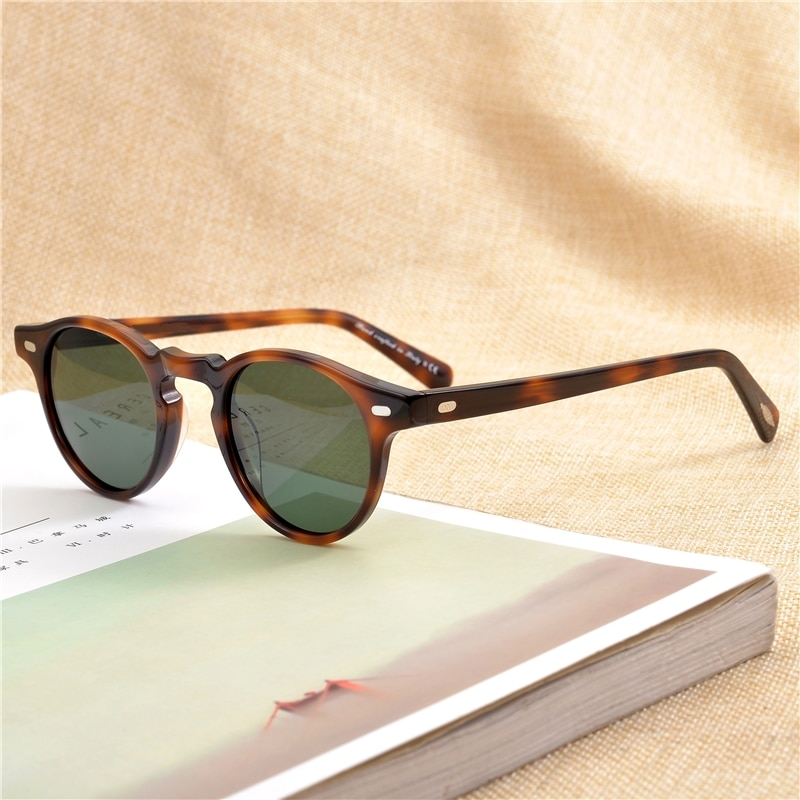 Gregory Peck Brand Designer men women Sunglasses Vintage Polarized sunglasses OV5186 retro Sun glass