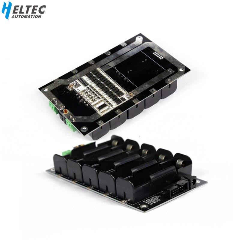 5S 21v 21700 bateria titular caixa de armazenamento pacote circuitos equilíbrio 60a 120a bms pcb 5S 21700 power wall diy power bank caso