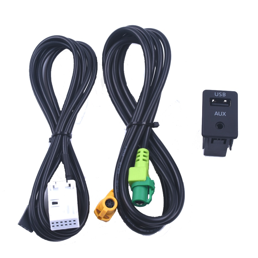 AUX para vw para Volkswagen RCD510/310 +/300 + POLO nueva Magotan Touran reforma AUX USB interruptor