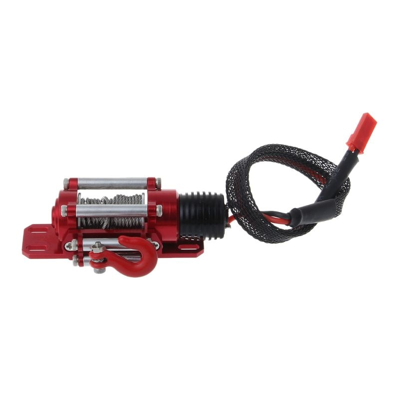 Metal Steel Wired Automatic Simulated Winch with Switch for 1/10 HSP Redcat HPI TAMIYA Axial SCX10 D90 RC Car 40JC enlarge