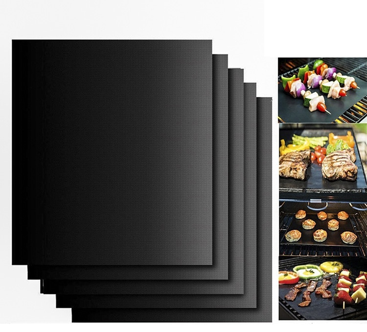 Non-stick BBQ Mat 40 * 33cm Baking Mat Cooking Grilling Sheet Heat Grill mat Resistance Easily Cleaned Kitchen Tools