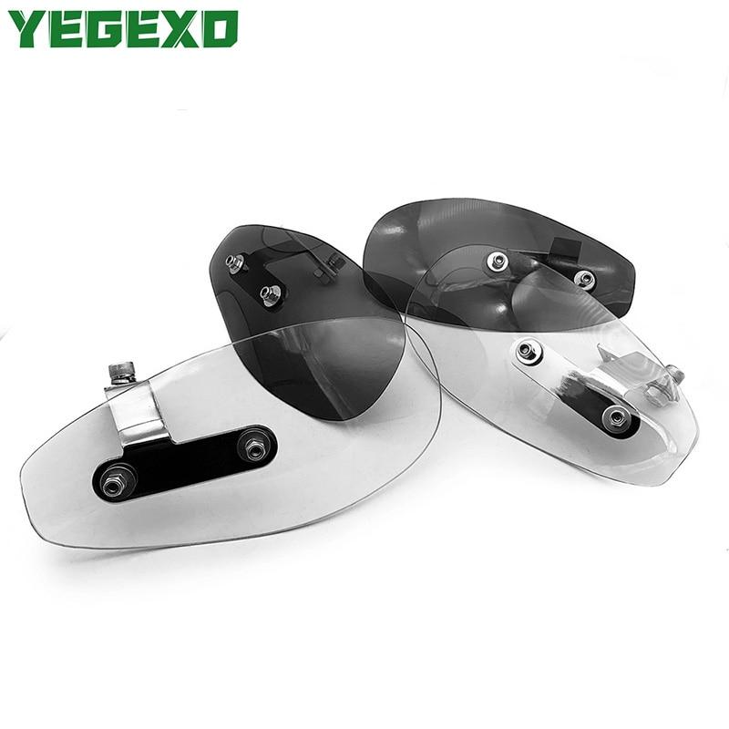 Acrylic Motorcycle Handguard Wind Shield Moto Accessories For APRILIA rs 125 sr 50 pegaso 650 tuono v4 sxv rsv shiver 750 rs50