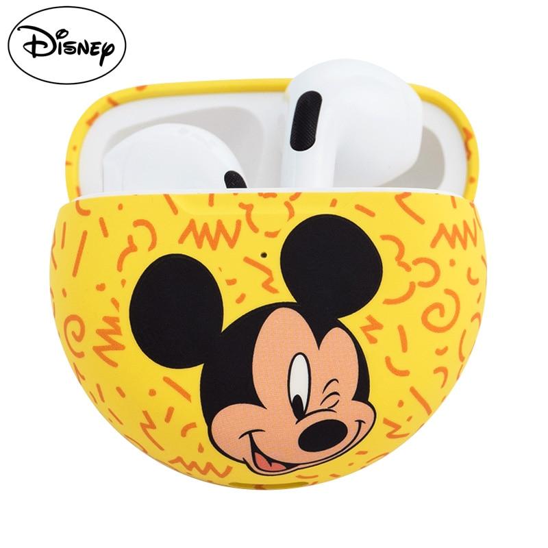 Disney TWS Headphone Bluetooth 5.0 Earphones Charging Box Mickey Minnie Donald Wireless Sports Headset With Microphone enlarge