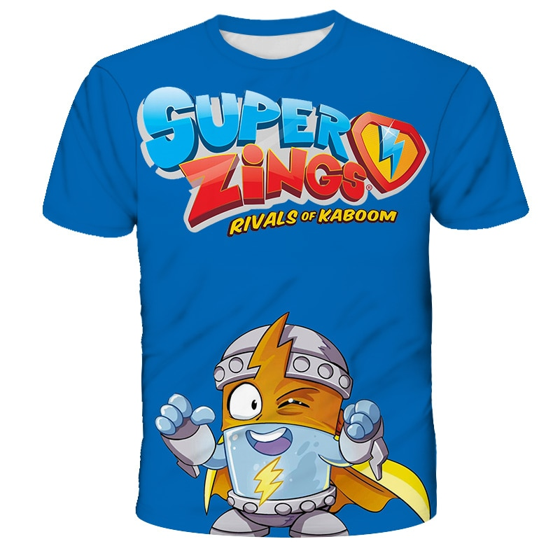 Superzings Funny Cartoon Fashion T Shirt Kids Kawaii Super Zings T-shirt Kids Cute Anime Tshirt Children Top Tees Boys Girls