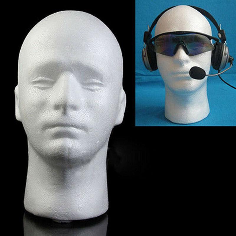 Nuevo sombrero de espuma de poliestireno blanco para hombre, sombrero de espuma de poliestireno, casco, cabeza de maniquí, modelo de peluca, soporte para pelucas, estante de pantalla, soporte para pelucas s