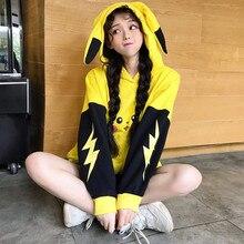 Disfraz de Anime Pokemon pikachu, disfraz de Halloween para mujer, sudadera de pikachu kawaii, disfraz de pikachu de fiesta elegante para niña