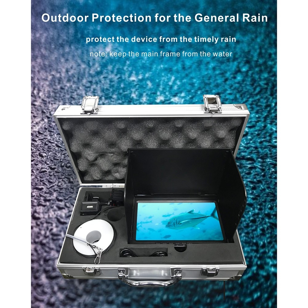 High-Definition Underwater Fishing Camera Waterproof 180 Degrees Fish Finder For Ice/Sea Fishing Portable Fish Detector Monitor enlarge