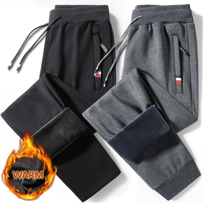 Зимние теплые спортивные штаны большого размера 5XL, спортивный костюм, облегающие спортивные штаны, брюки, спортивные штаны, Мужские штаны д...