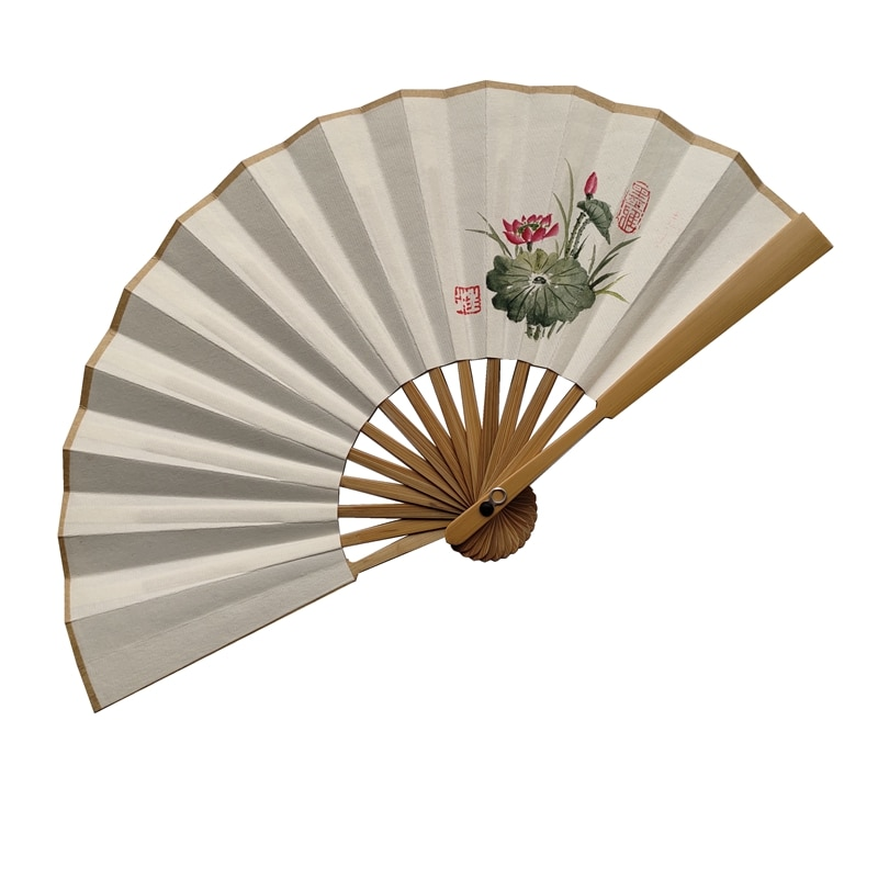 Xuan-abanico de papel Retro chino en blanco Para mujer, abanico de mano...