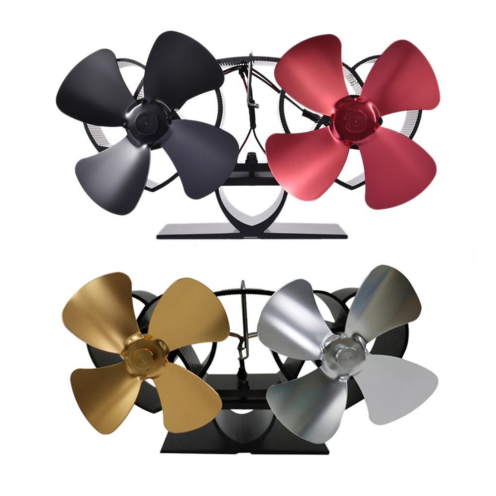 Ventilador para hogar de doble Motor de estufa de calor, especialmente para chimenea de hogar, quemador de leña, ventilador de estufa, distribución silenciosa del calor