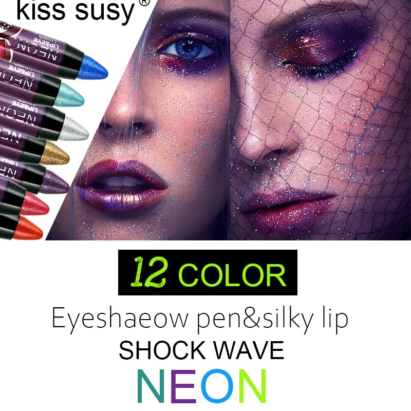 Профессиональная ручка для теней век, 12 цветов, Водостойкий карандаш губ, не цветущий, блестящий перламутровый гелевый карандаш, руч...