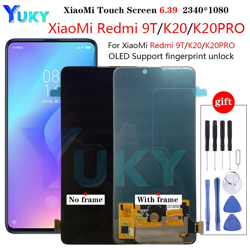 RedMi K20 LCD For Xiaomi Mi9T Pro Mi 9T LCD AMOLED For Redmi K20 Pro LCD Display Touch Screen Digitizer Assembly 6.39