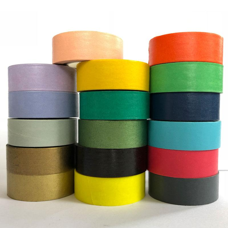 Washi Tape Solid Color Masking Washi Tape Decorative Adhesive Tape Stickers Scrapbooking Diary Stationery Office Supplies