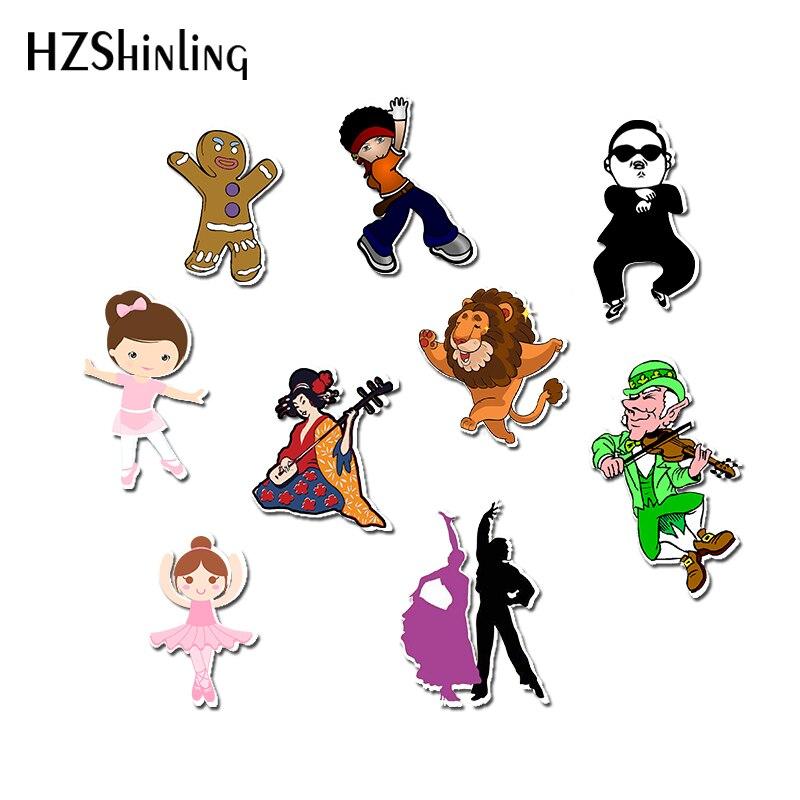 Broches de acrílico, insignia Shrinky Dinks para baile, baile, Hip hop, baile, resina epóxica, broches de Dinks, Pins, regalos de mochila