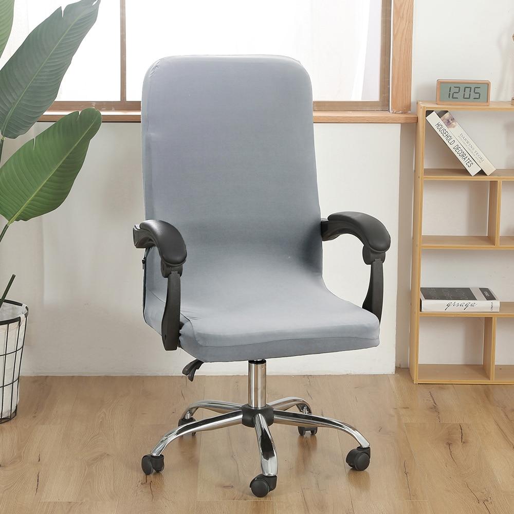 Stretch Office funda para silla de ordenador S/M/L asiento de escritorio giratorio Spandex impermeable elástico silla Slipcover lavable extraíble