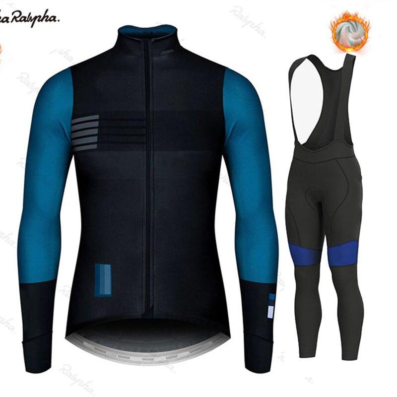 Ralvpha pro 2020 neue winter warme fleece outdoor radfahren männer fahrrad mountainbike kleidung eisen mann drei strumpfhosen bike uniform