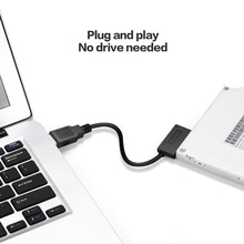 2020 PC 35CM 6P 7P CD DVD Rom SATA zu USB 2,0 Konverter Slimline Sata 13 Pin USB Adapter Drive Kabel Für PC Laptop Notebook