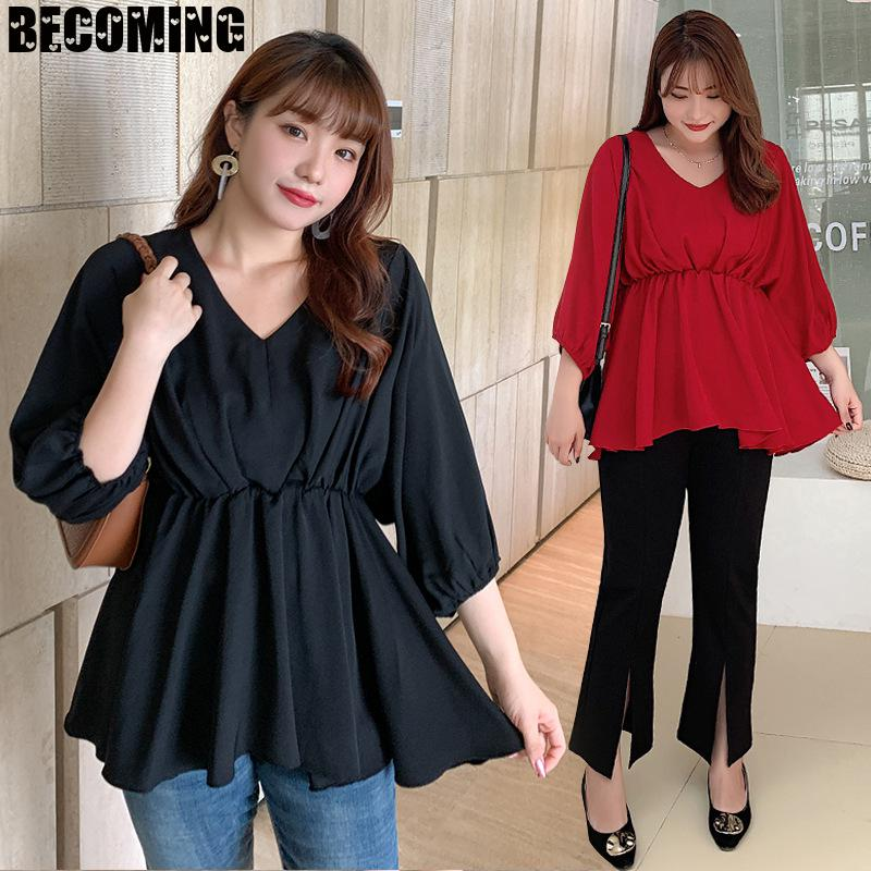 Pregnant Blouse Lantern Sleeve Women Top Sexy V Neck Sleeveless Casual Pregnant Blouse Women Pregnant Maternity Clothes Blouse enlarge