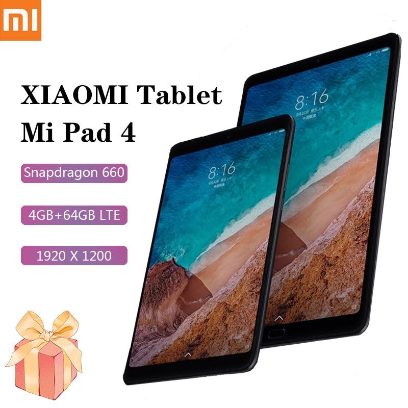 Xiaomi MI Pad 4 Tablet Android LTE Version 8 Inch Tablet 1920x1200 Snapdragon 660 4GB RAM 64GB ROM 6000mAh Battary Xiaomi Tablet