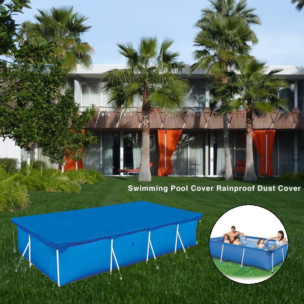 Durable jardín Rectangular hogar grueso ligero impermeable Anti polvo uso fácil cubierta de la piscina de poliéster protección sobre el suelo