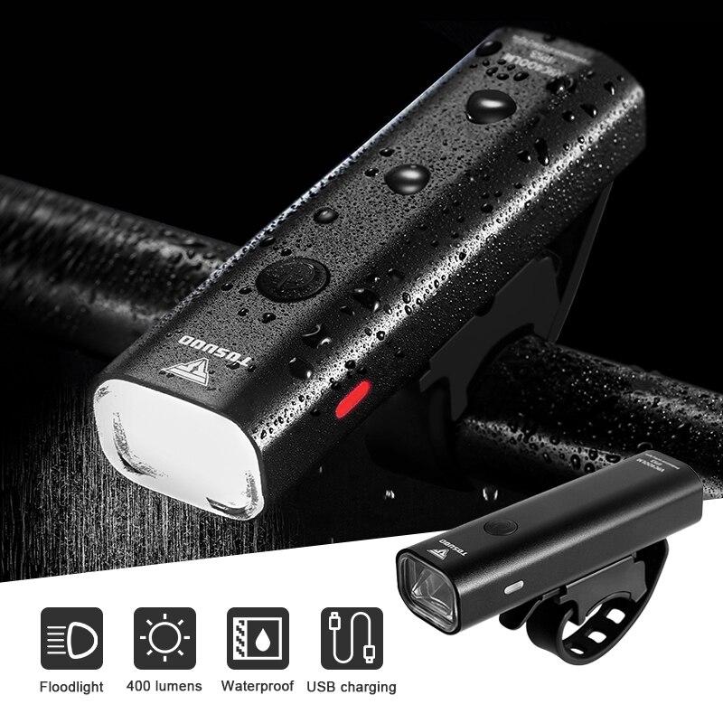 Ciclismo bicicleta luz impermeable USB recargable LED de la lámpara frontal faro ultraligero luz linterna para bicicleta luz bicicleta